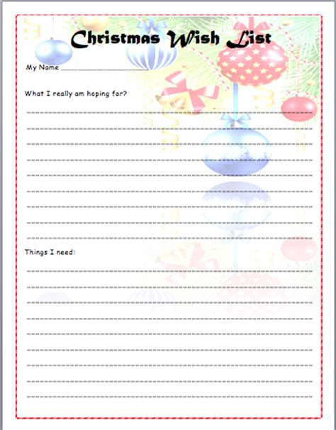 christmas list doc printable santa wish list 43 printable wish list templates ideas template archive