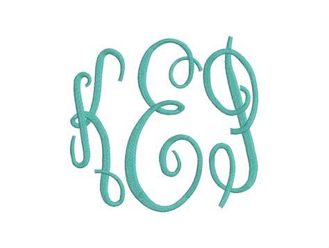fancy font design online large fancy 3 letter monogram font machine embroidery