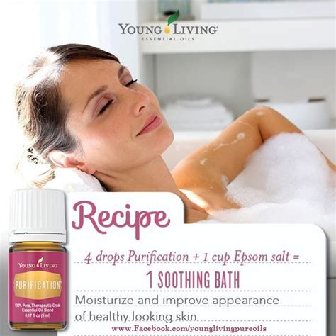 Purification Detox Bath by Bath Salts With Livings Purification Essential