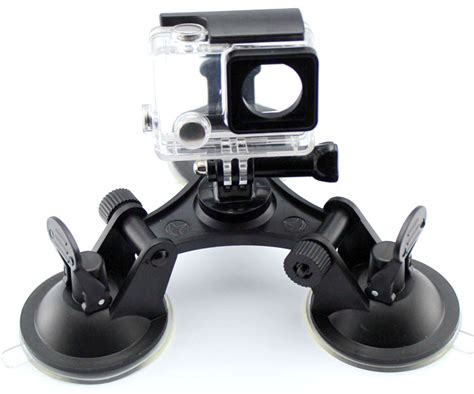 Umum Gopro 3 feets triangle stable car suction cup glass mount sucker