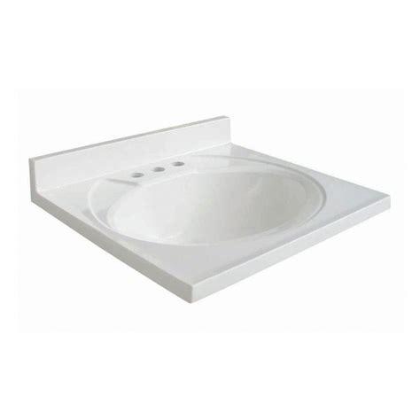 Ab Composite Vanity Top glacier bay newport 19 in ab engineered composite vanity top in white with white bowl n19gb w