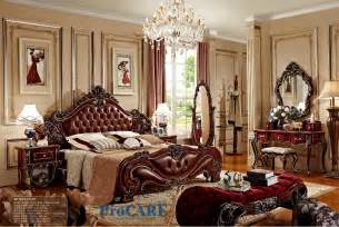 american style bedroom furniture set with real leather