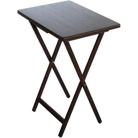 folding tray table folding tv tray table lipper international bamboo