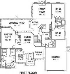 simple 4 bedroom home plans simple house plan with also small 4 bedroom floor plans