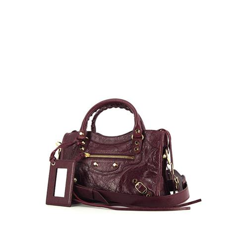 Balenciaga Purple Goat Leather Shoulder Bag by Balenciaga Classic Shoulder Bag 331788 Collector Square