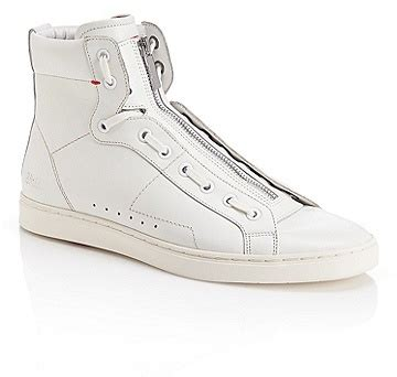 hugo high top sneakers hugo posseo leather high top zipper sneakers