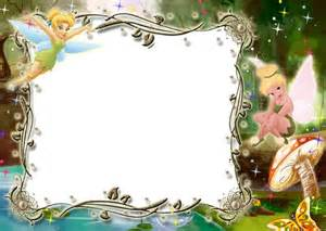 kids transparent photo frame with tinkerbell crafting