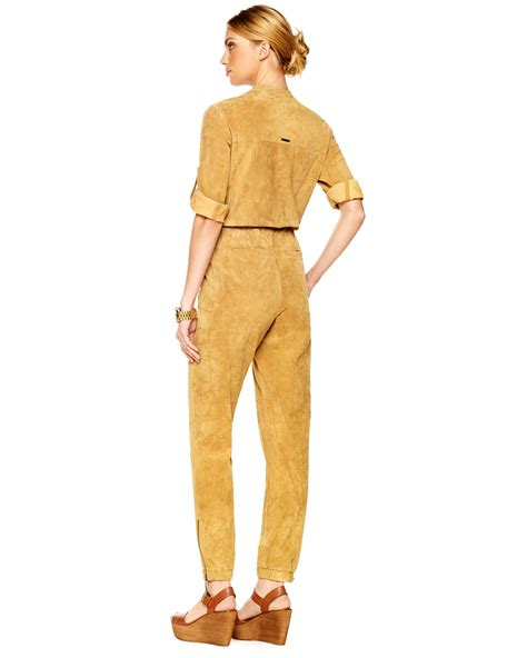 Swedi Jumpsuit michael kors suede jumpsuit in yellow lyst