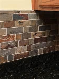 slate tile backsplash brown slate mosaic backsplash tile for traditional
