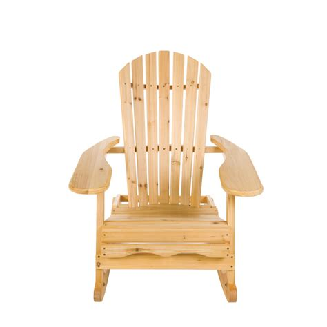 Rocking Garden Chair Garden Patio Wooden Adirondack Rocking Chair