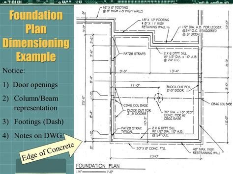 foundation layout exles architectural dimensioning part 2 ppt video online download