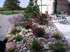 River Rock Garden Beautiful Back Yard On Friendly Backyard