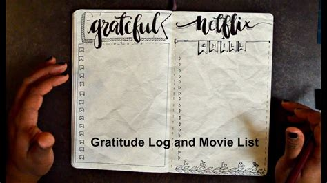 typography journal how to bullet journal special typography list and gratitude log ft allmynotebooks