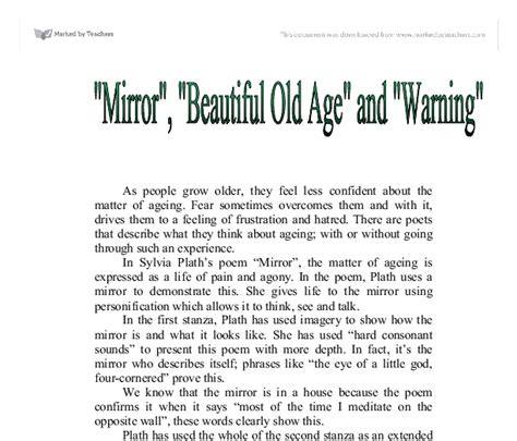 themes of old english poetry mirror sylvia plath theme order custom essay online