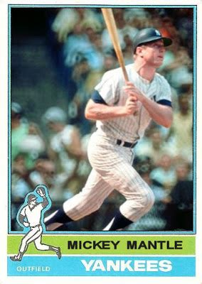 yankees baseball card template cards that never were 1976 topps mickey mantle
