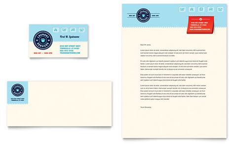 Business Card Letterhead Template Laundry Services Business Card Letterhead Template Design