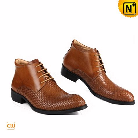 mens dress ankle boots leather brown cw763390