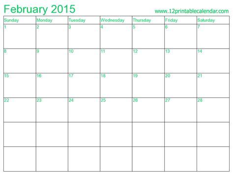 February 2015 Printable Calendar February 2015 Calendar Printable 2 Chainimage