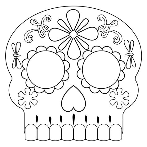 day of the dead skull mask template day of the dead masks sugar skulls free printable paper