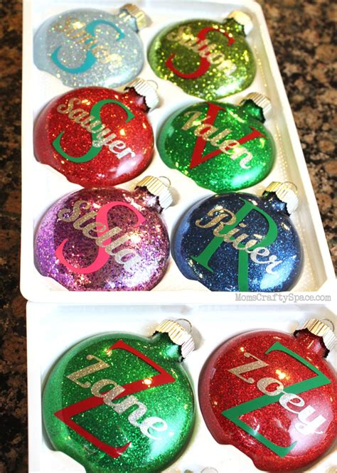 cristmas ball write name personalized glitter ornaments happiness is