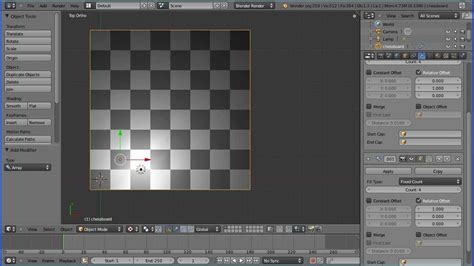 blender tutorial array modifier blender modelling making a chessboard using the array