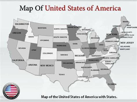 united states map powerpoint template get high quality editable maps of the united states of