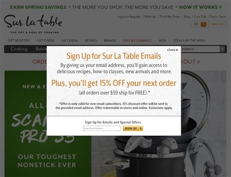sur la table coupon code sur la table coupons surlatable com promotion codes