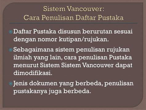 bahasa indonesia 1 8 abstrak dan daftar pustaka penulisan daftar pustaka hadits ppt dasar dasar penyusunan