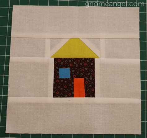 Patchwork House - patchwork house quilt block pattern allfreesewing