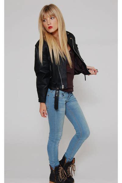 Tinny Jaket jackets quot vintage 90s rock hotel leather jacket tiny