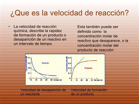 la velocidad de la 8439727437 cinetica quimica