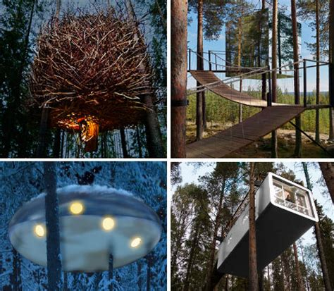 tree hotel sweden nordic nights 12 fun hip hotels in sweden urbanist