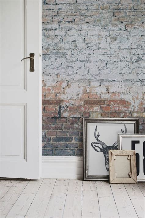 white brick removable wallpaper contemporary wallpaper love exposed brick walls get the look with this brick