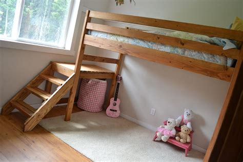 easy to free queen loft bed plans patt