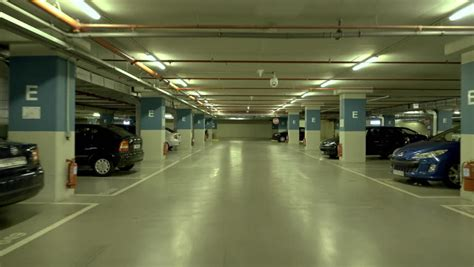 underground parking garage 4k pov drive through underground parking garage real time