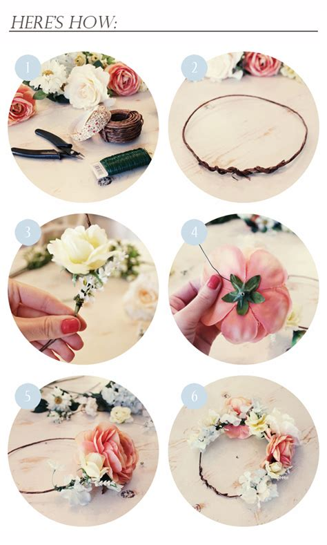 How To Make A Flower Crown Out Of Paper - kelli murray diy flower crown