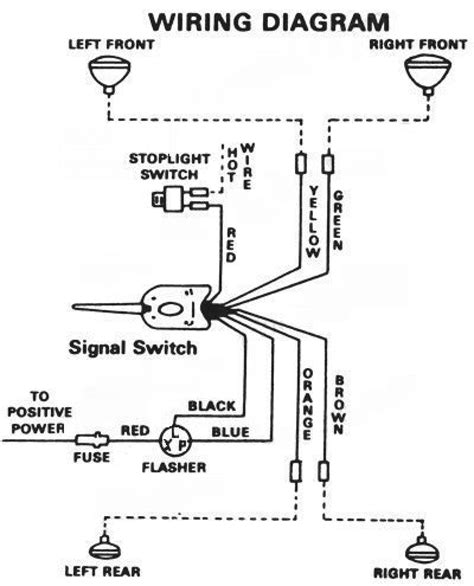 universal turn signal wiring diagram wiring diagram for golf cart turn signals readingrat net