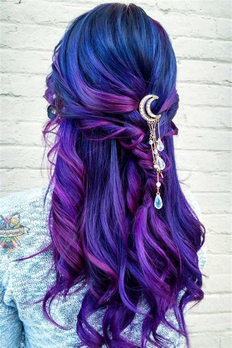 Purple And Black Hairstyles by 42 Fabulous Purple And Blue Hair Styles Blue Hair Hair