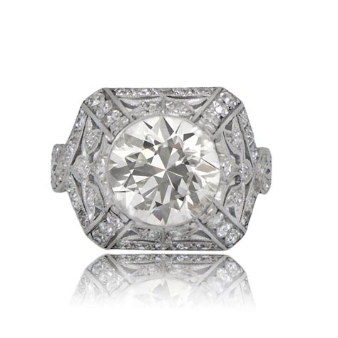 Deco Engagement Rings by Deco 1930s Engagement Ring