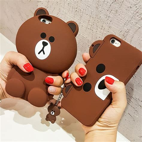 Silicon Korean Style For Iphone 6 korean capa 3d teddy coque silicone phone cases for iphone 7 7plus 5 5s
