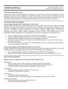 Audit Specialist Sle Resume by Technical Support Specialist Resume Template Tech Support Resume Exles Resume Cv Cover