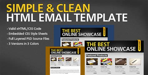 Simple Clean Html Email Template By Berber Themeforest Themeforest Html Email Template
