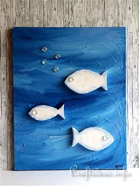 summer craft project acrylic picture fish