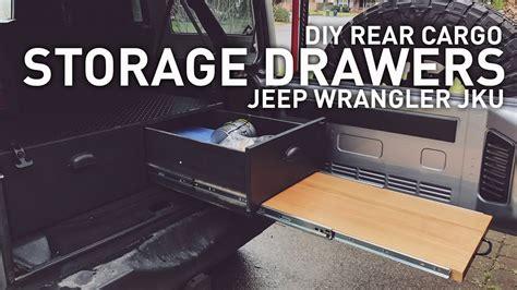 diy drawer system  jeep wrangler camping overlanding