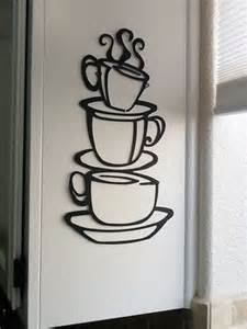 Coffe Decoration by Coffee House Cup Java Silhouette Wall Metal Mug