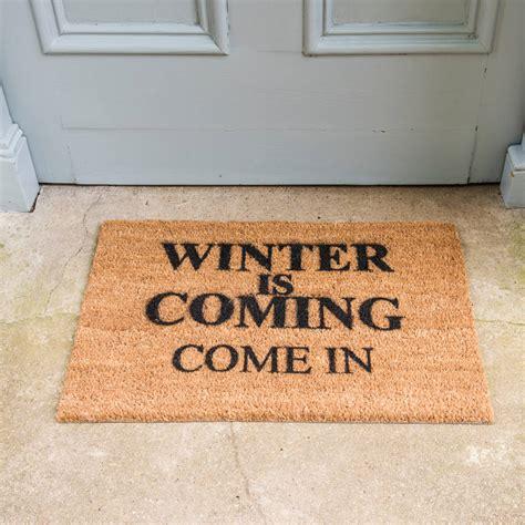 Winter Doormat winter is coming doormat by distinctly living notonthehighstreet