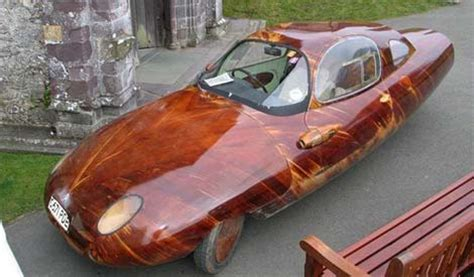 Handmade Automobiles - tyrane ii wooden sports car wired
