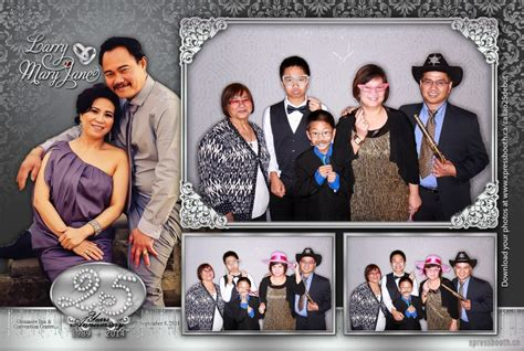 layout for photo booth double celebration with 2 photo booth layouts