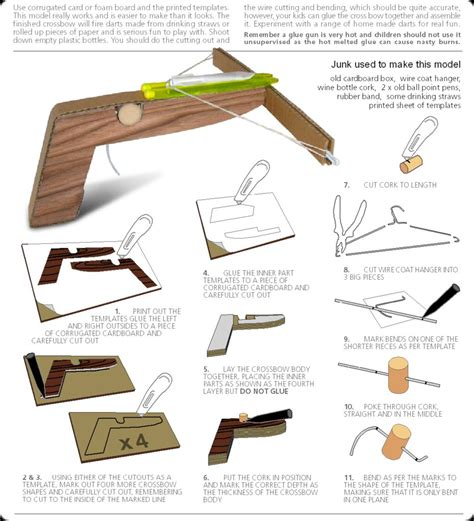 How To Make A Crossbow Paper - how to make a cool cardboard crossbow