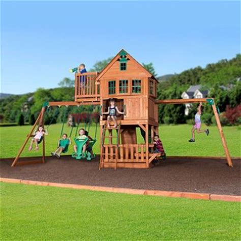 sams club swing set skyfort ii cedar swing set play set plays sam s club